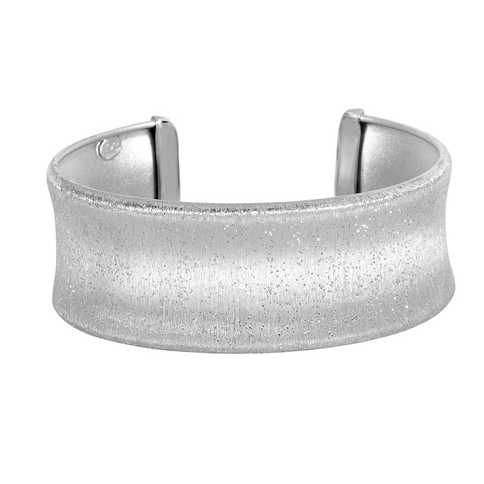 Sterling Silver Stardust Stylish Cuff Bracelet, 8 Inch by SuperJe