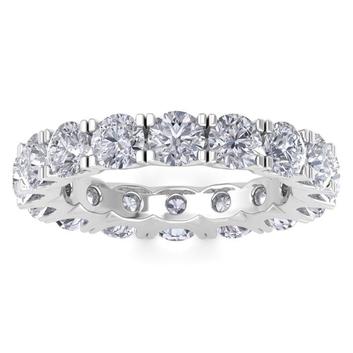 14K White Gold (4.5 g) 4 Carat Diamond Eternity Ring (I-J, I1-I2)