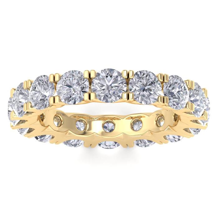 14K Yellow Gold (5.2 g) 4 1/4 Carat Diamond Eternity Ring (