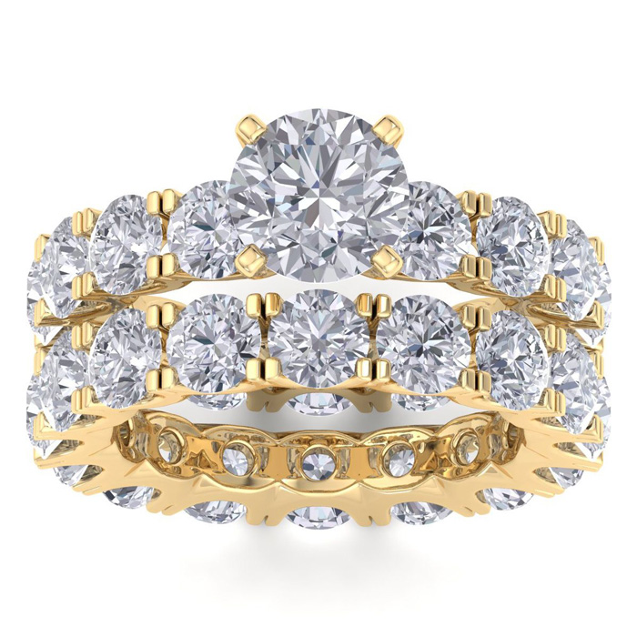 14K Yellow Gold (10.7 g) 9 Carat Diamond Eternity Engagement Ring