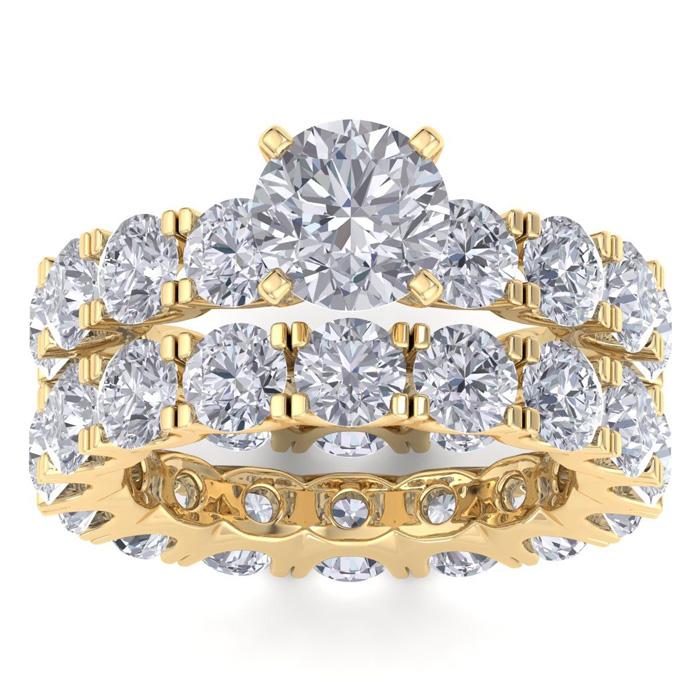 14K Yellow Gold (11.2 g) 9 1/2 Carat Diamond Eternity Engagement