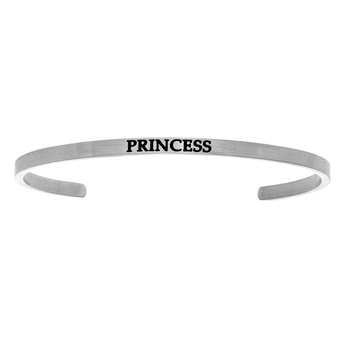 "Silver ""PRINCESS"" Bangle Bracelet, 8 Inch by SuperJeweler"