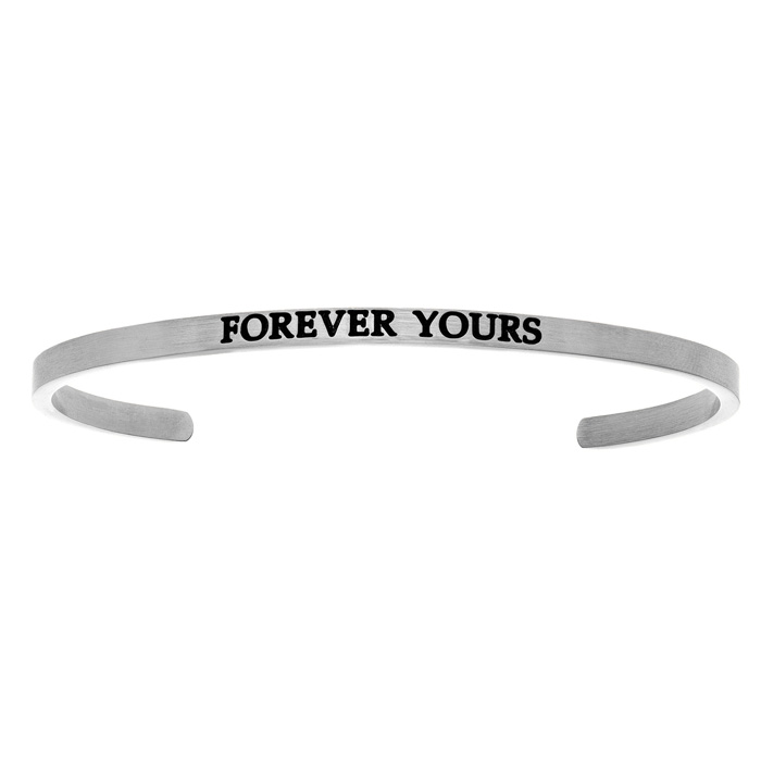 "Silver ""FOREVER YOURS"" Bangle Bracelet, 8 Inch by SuperJeweler"