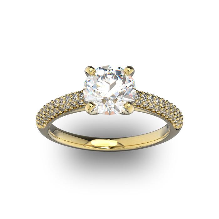 14K Yellow Gold (3.9 g) 2 Carat Classic Round Diamond Engagement Ring (I-J, I1-I2 Clarity Enhanced) by SuperJeweler