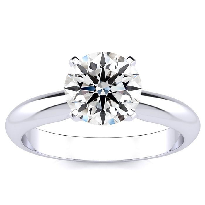 1 ½ Carat Round Diamond Solitaire Ring in Plat