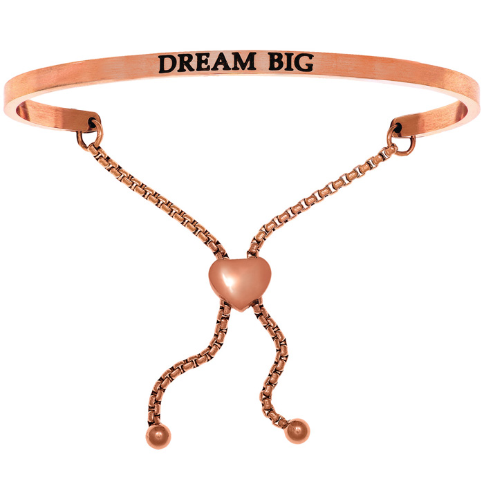 "Rose Gold ""DREAM BIG"" Adjustable Bracelet, 7 Inch by SuperJeweler"