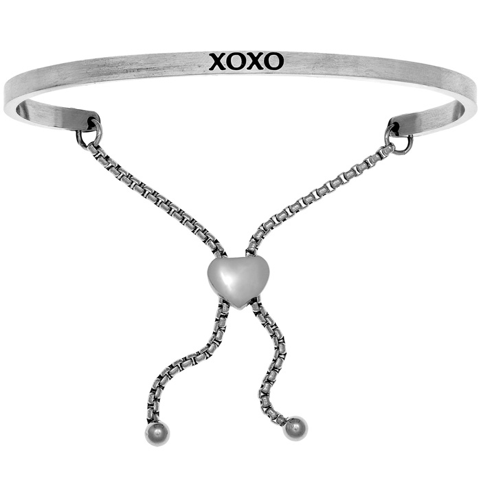 "Silver ""XOXO"" Adjustable Bracelet, 7 Inch by SuperJeweler"