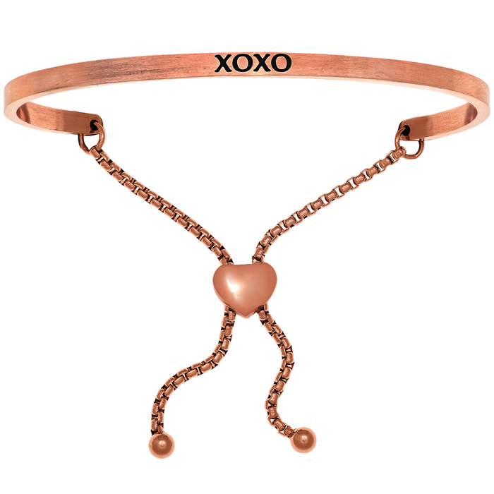 "Rose Gold ""XOXO"" Adjustable Bracelet, 7 Inch by SuperJeweler"