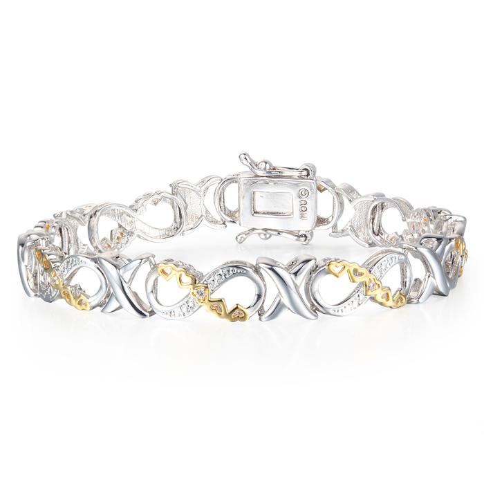 Tennis Bracelet Diamond 1 10 Carat Xo Infinity Overlay Best Jewelry Deals