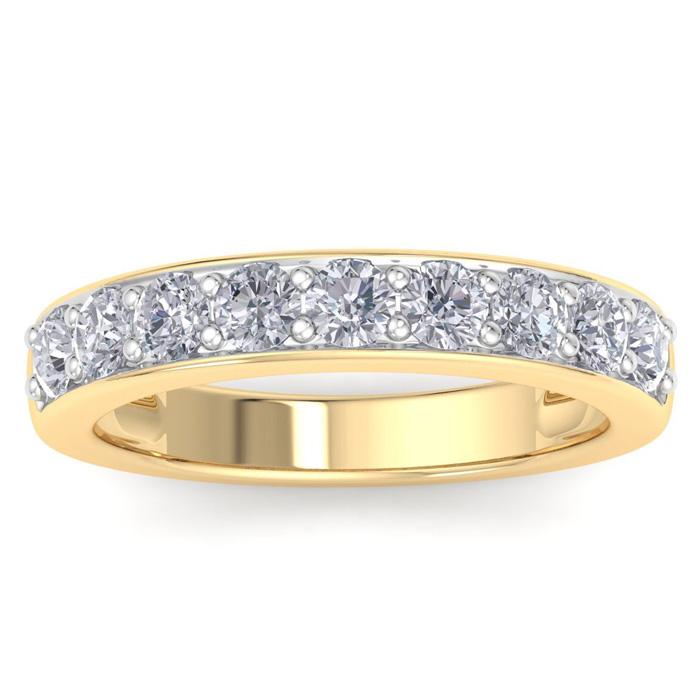 1 Carat Diamond Wedding Band in 14k YELLOW Gold, I/J by SuperJewe