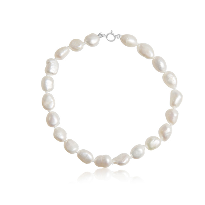 6MM Freshwater Cultured Baroque Pearl Bracelet, 7 Inch by SuperJe