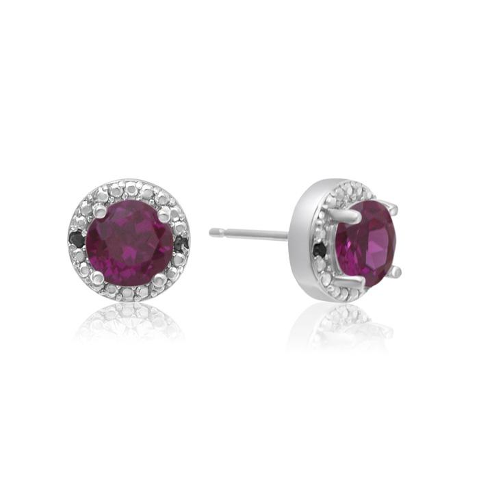 1 1/2 Carat Ruby and Black Diamond