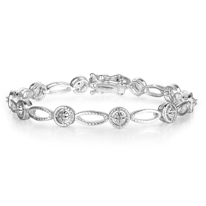 Antique Reproduction 1/5 Carat Diamond Tennis Bracelet