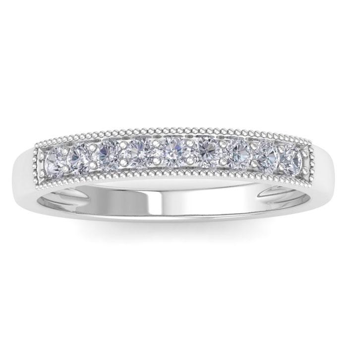 1/4 Carat Diamond Wedding Band in 14k White Gold, J/K by SuperJew