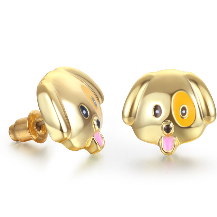 Puppy Love Emoji Earrings by SuperJeweler