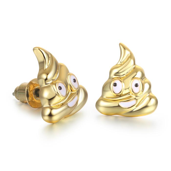 Pile Of Poop Emoji Earrings by SuperJeweler