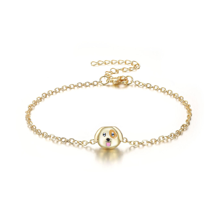 Puppy Love Emoji Anklet, 9 Inches by SuperJeweler