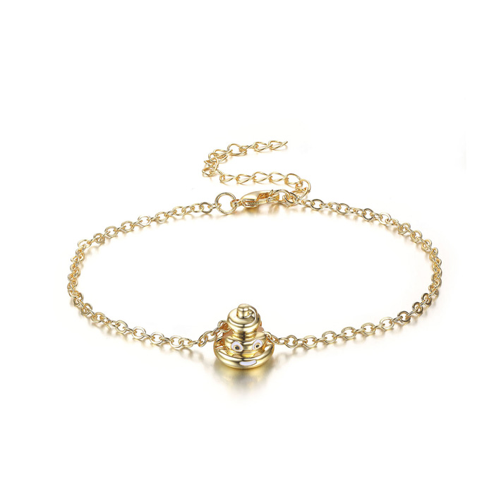 Pile Of Poop Emoji Anklet, 9 Inches by SuperJeweler