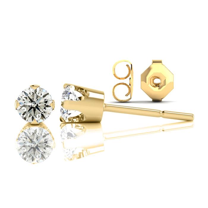 Nearly 1/2 Carat Diamond Stud Earrings in 14k Yellow Gold (1.2 Grams), I/J by SuperJeweler