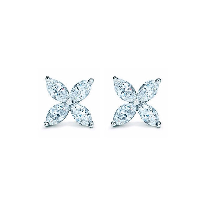 2 Carat Diamond Cluster Earrings in Platinum w/ French Screw Back Clip-Ons in 14K White Gold, H/I by SuperJeweler