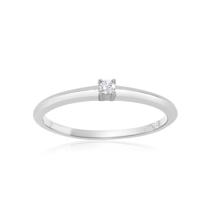 Image of .06ct Diamond Promise Ring In Sterling Silver