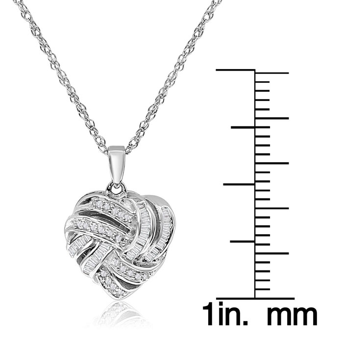 17 mm Jewels Obsession Heart Pendant Sterling Silver 925 Heart Pendant