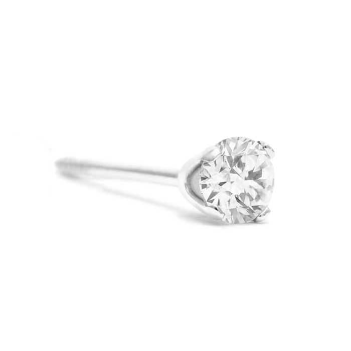 **SINGLE 1/2CT STUD IN 10K WHITE GOLD**