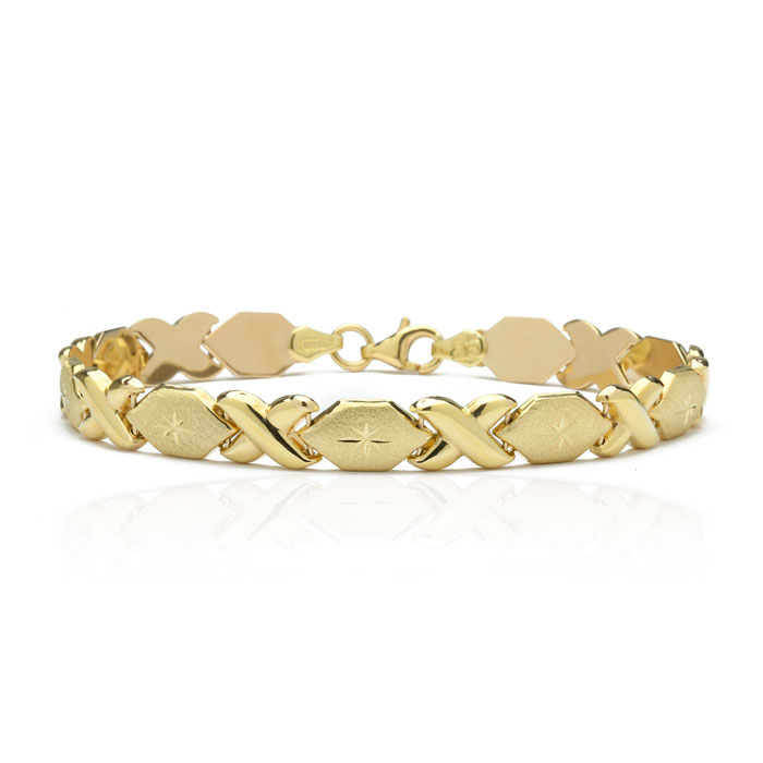 10K Yellow Gold Stamato XO Bracelet, 7
