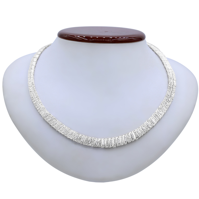 1 Carat Diamond Graduated Collar Necklace, 16 Inches, J/K by Supe