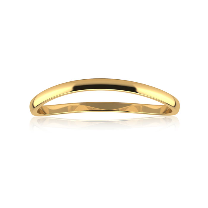 Solid Yellow Gold (0.7 g) 1.5MM Comfort Fit Curved Wave Thumb Rin