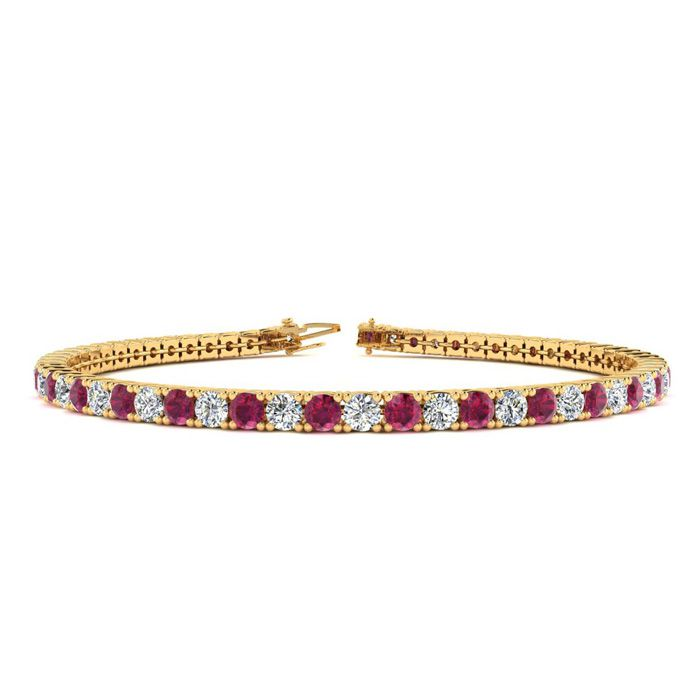 9 Inch 4 3/4 Carat Ruby And