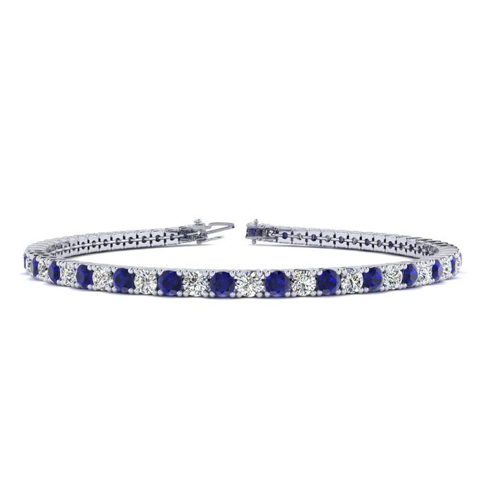7.5 Inch 3 1/2 Carat Sapphire And