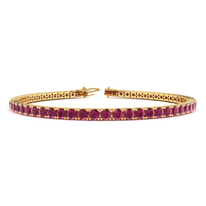 5 Carat Ruby Tennis Bracelet In 10K