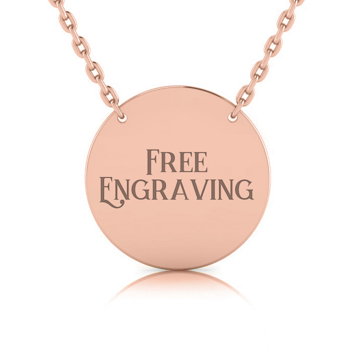 14K Rose Gold (5.3 g) Over Sterling Silver Disc Necklace w/ Free
