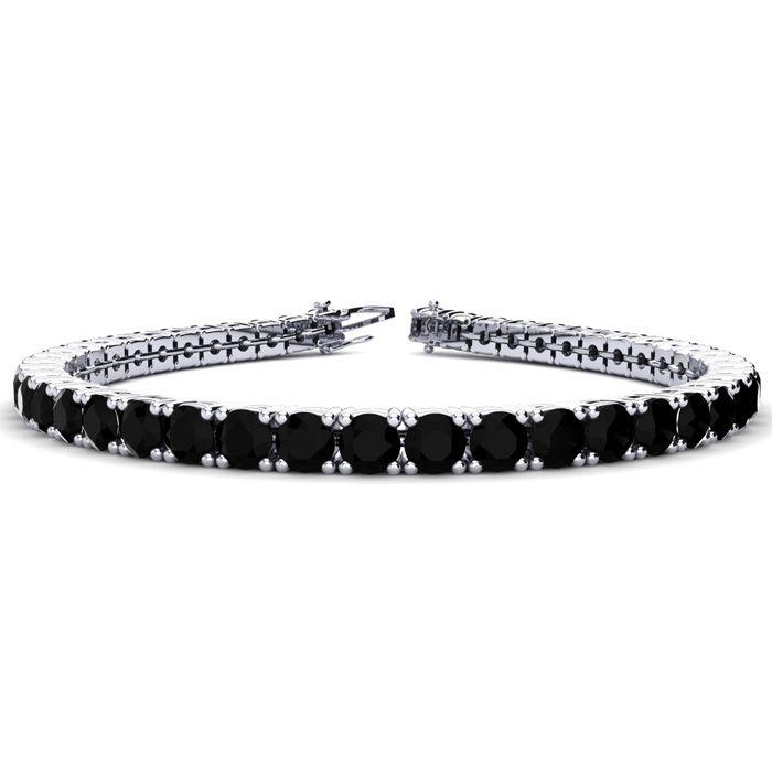9 3/4 Carat Black Diamond Tennis Bracelet