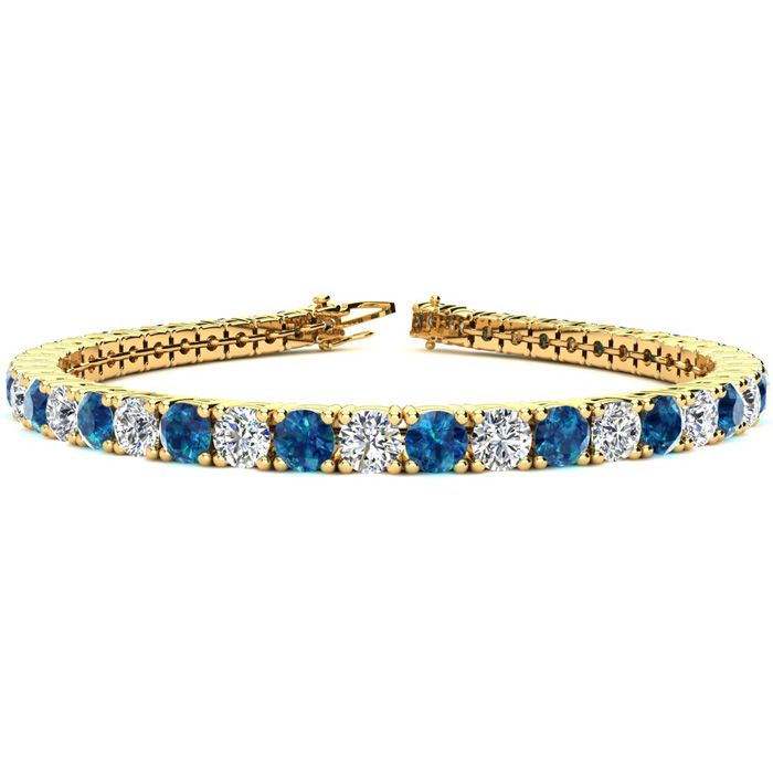 6.5 Inch 8 1/2 Carat Blue and