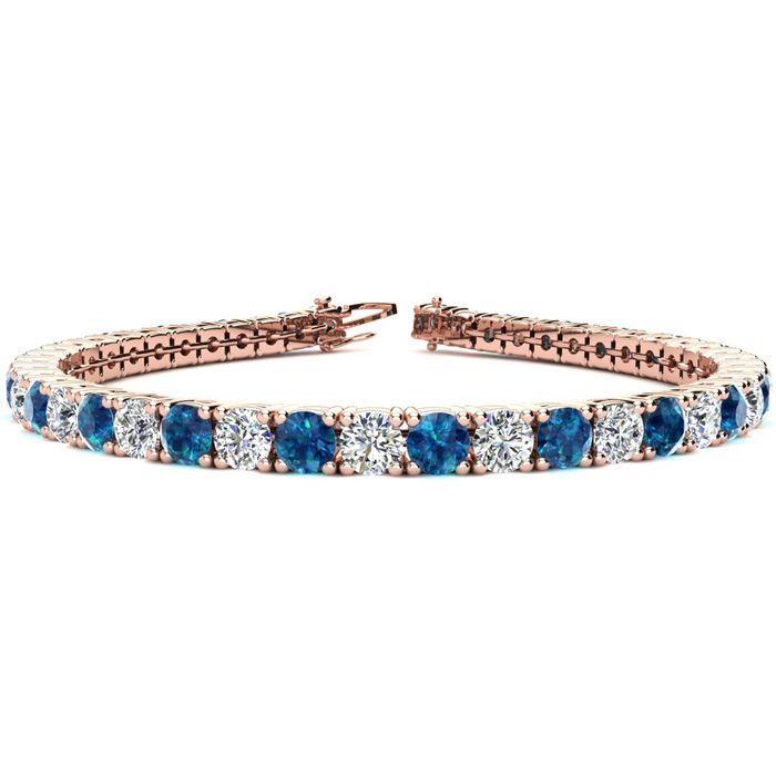 8 Inch 10 1/2 Carat Blue and