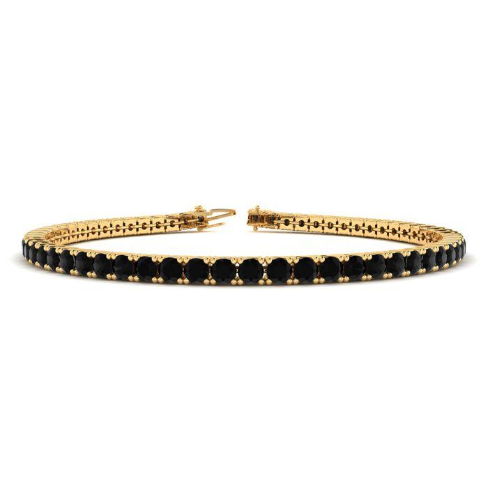 4 1/4 Carat Black Diamond Tennis Bracelet