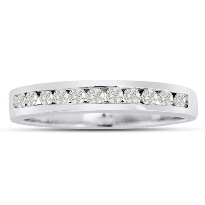 The Perfect 1/4 Carat Diamond Wedding Band in 14k White Gold (2 g