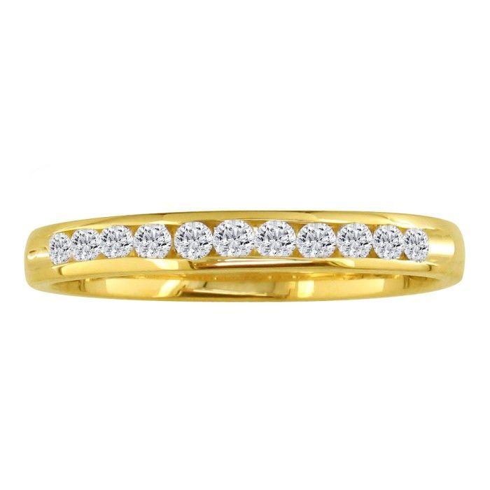 The Perfect 1/4 Carat Diamond Wedding Band in 14k Yellow Gold (2.