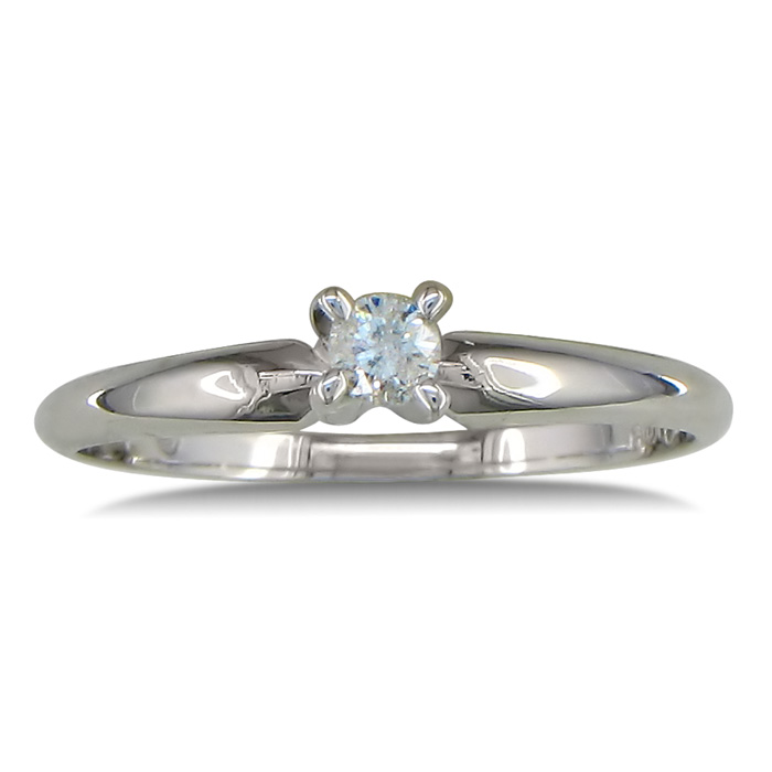 Image of .10ct Diamond Promise Ring in 10k White Gold
