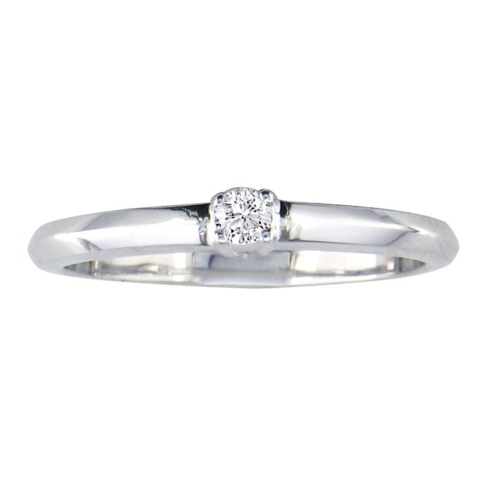 Image of .06ct Diamond Promise Ring 10k White Gold