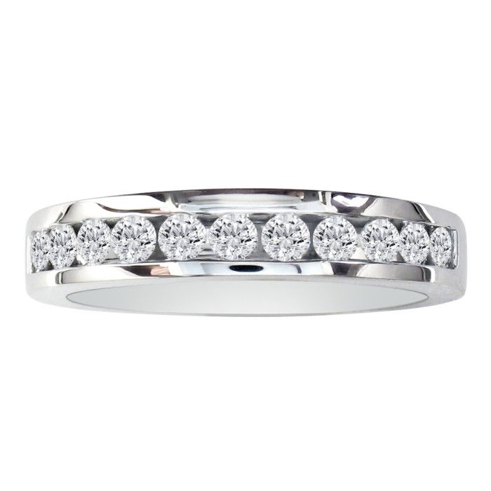Image of 1/2ct Round Diamond Band in 10k White Gold
