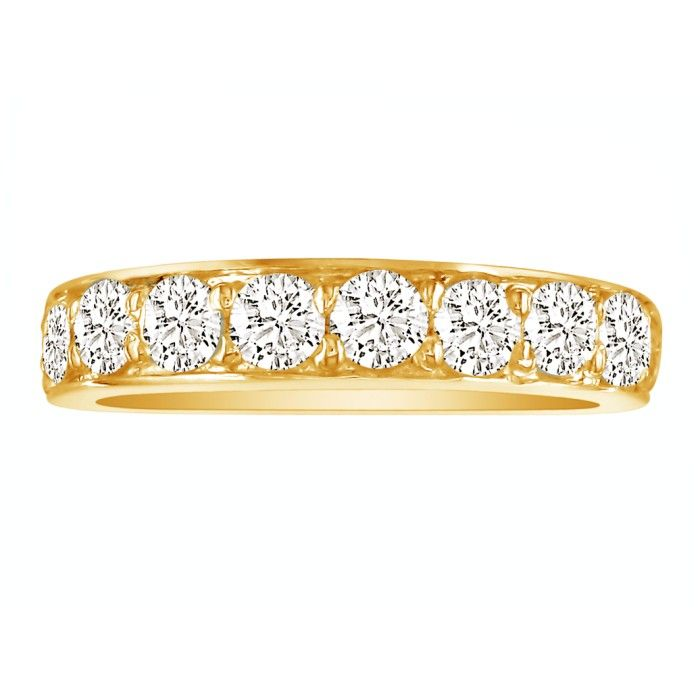 1/2ct Prong Set Diamond Band in 10k