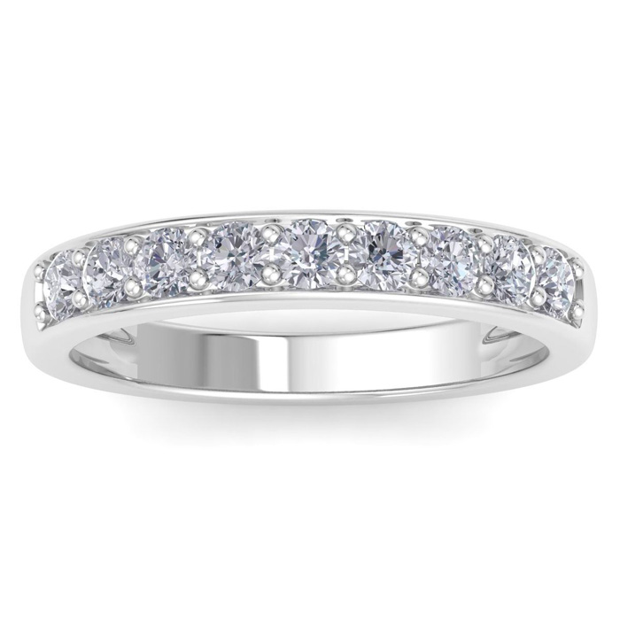 1/2ct Prong Set Diamond Band in 10k