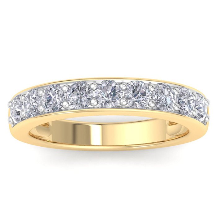1 Carat Natural Earth-Mined Diamond Ring in Solid Yellow Gold (2.