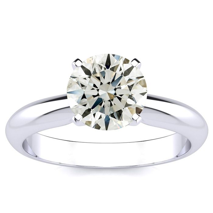 1.5 Carat Round Diamond Engagement Ring in 14k White Gold (J-K, SI1-SI2) by SuperJeweler