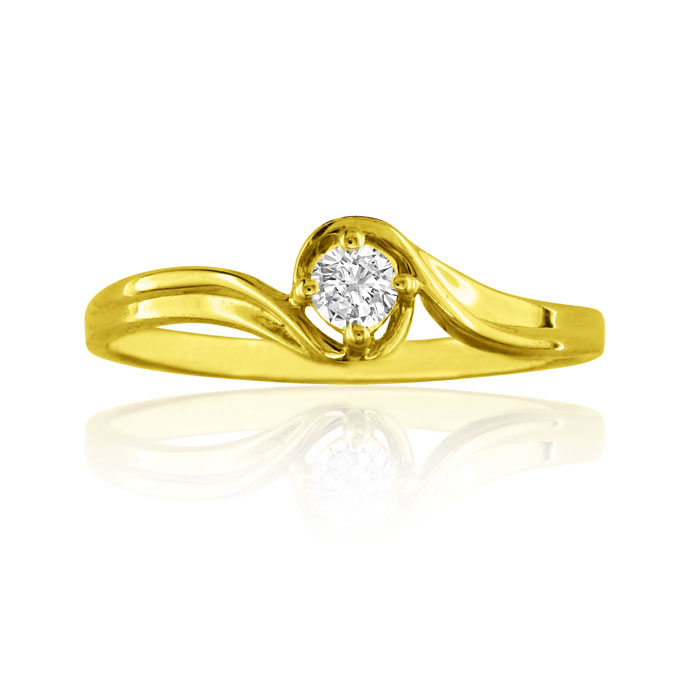 .05 Carat Diamond Promise Ring in 10k Yellow Gold, I/J by SuperJeweler