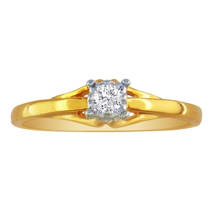 .05 Carat Diamond Promise Ring in 10k Yellow Gold, I/J by SuperJe