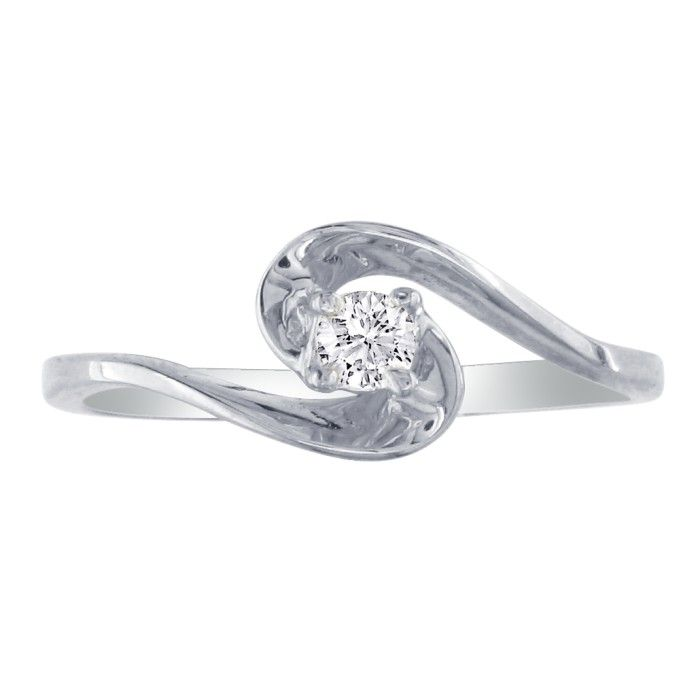 The Perfect .05 Carat Diamond Promise Ring in 10k White Gold, H/I